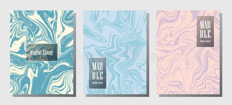 Impresiones de mármol minimalistas, plantillas del diseño de la cubierta del vector ilustración del vector
