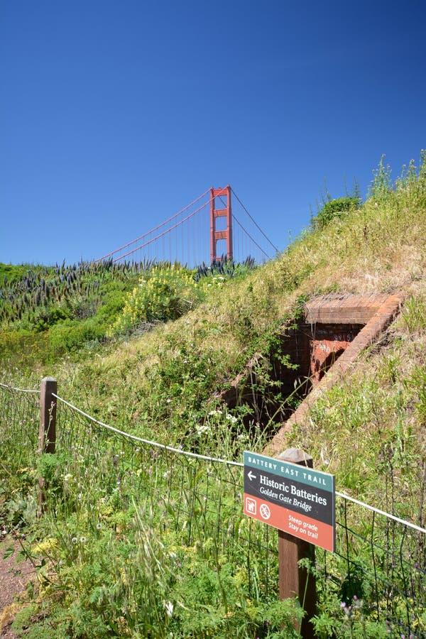 Impresiones de puente Golden Gate en San Francisco a partir del 2 de mayo de 2017, California los E.E.U.U. fotos de archivo