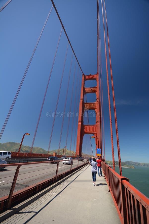 Impresiones de puente Golden Gate en San Francisco a partir del 2 de mayo de 2017, California los E.E.U.U. foto de archivo libre de regalías