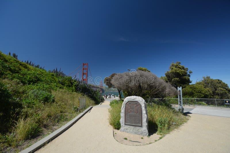 Impresiones de puente Golden Gate en San Francisco a partir del 2 de mayo de 2017, California los E.E.U.U. imagen de archivo