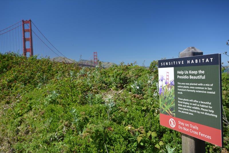 Impresiones de puente Golden Gate en San Francisco a partir del 2 de mayo de 2017, California los E.E.U.U. imagenes de archivo