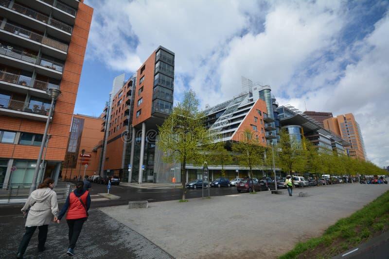 Impresiones del cuadrado de Potsdam, Potsdamer Platz en Berlín a partir del 11 de abril de 2017, Alemania imagenes de archivo