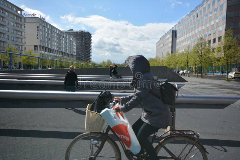 Impresiones del cuadrado de Potsdam, Potsdamer Platz en Berlín a partir del 11 de abril de 2017, Alemania foto de archivo libre de regalías