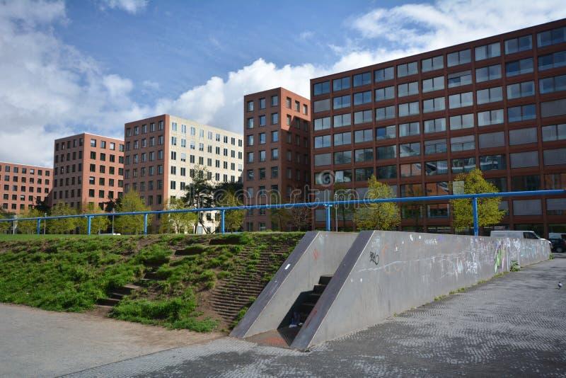Impresiones del cuadrado de Potsdam, Potsdamer Platz en Berlín a partir del 11 de abril de 2017, Alemania fotografía de archivo libre de regalías