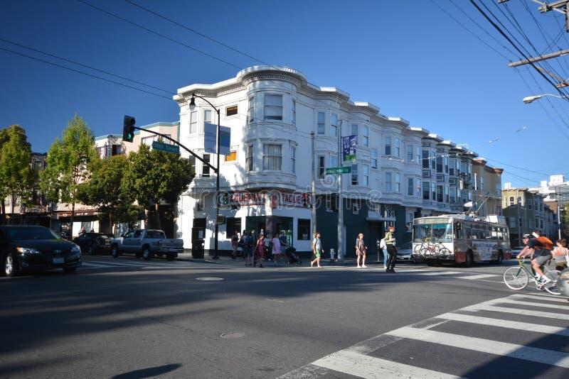 Impresiones del distrito de la misión en San Francisco, California los E.E.U.U. imagenes de archivo
