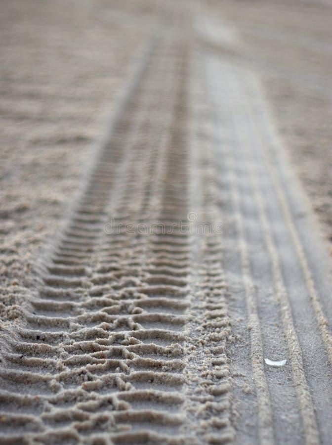 Impresiones del neumático de Sandy fotos de archivo