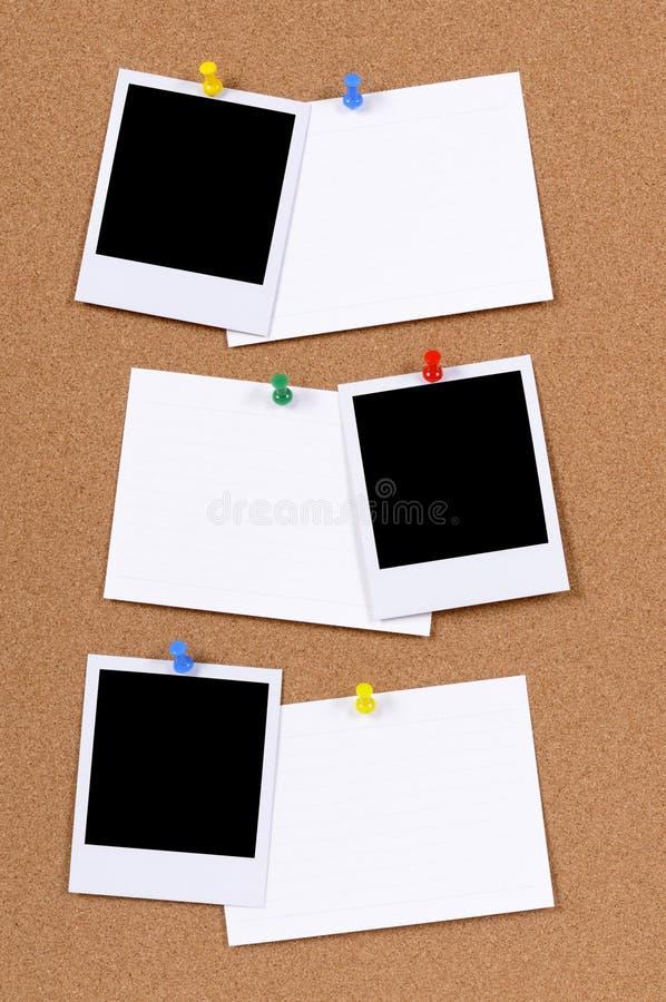 Impresiones en blanco de la foto con las tarjetas de índice (XL) imagen de archivo libre de regalías