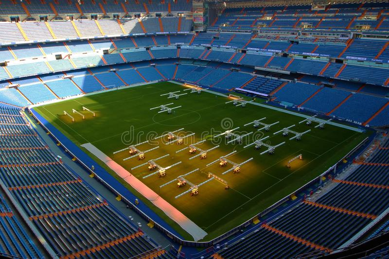 Santiago Bernabeu Stadium in Madrid royalty free stock photos