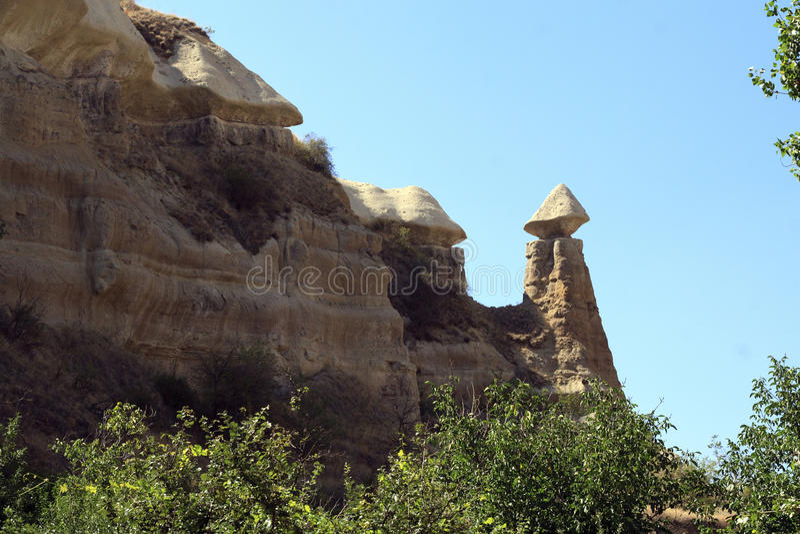 Impresivestenen in Cappadokia royalty-vrije stock foto's