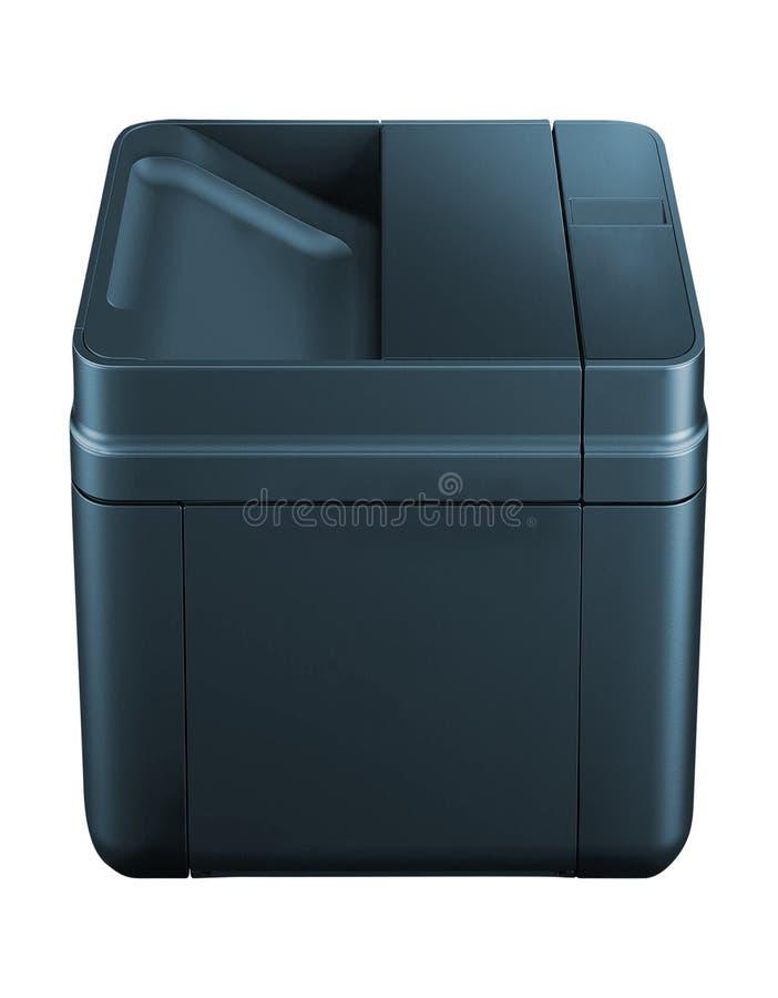 Impresora aislada en blanco fotos de archivo