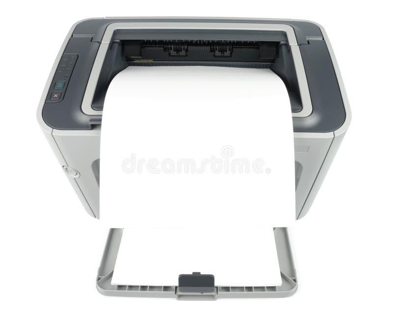 Impresora con la hoja en blanco fotos de archivo libres de regalías