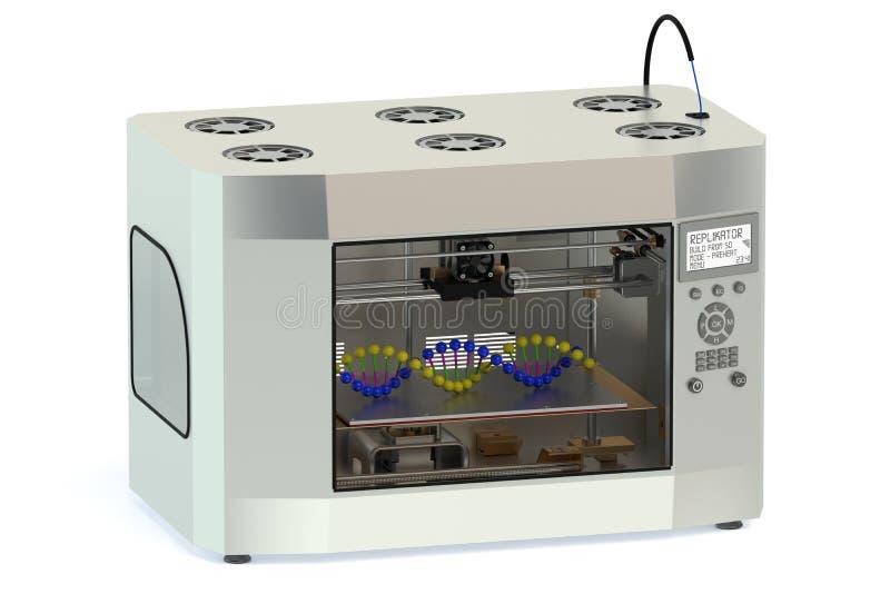 impresora 3D stock de ilustración