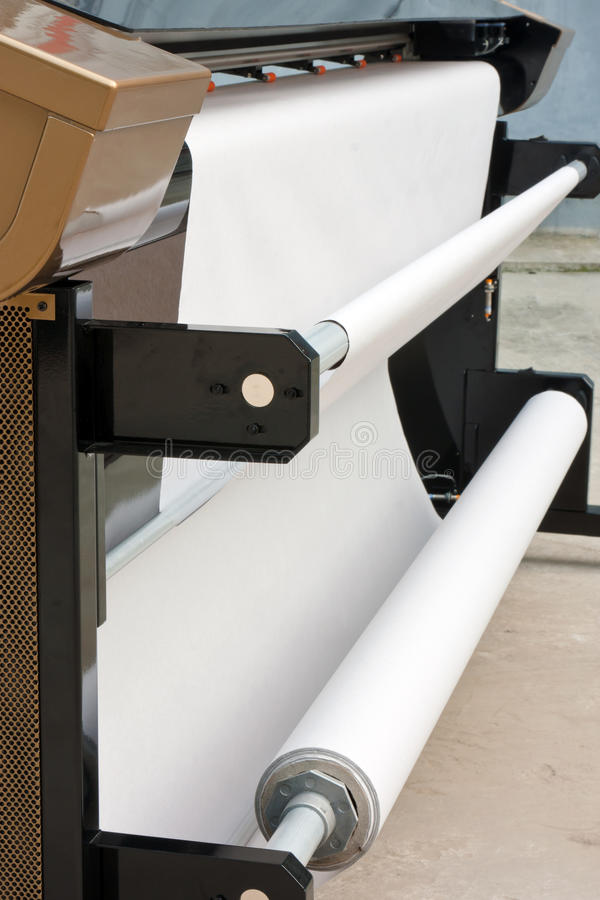 Impresora de inyección de tinta industrial fotos de archivo libres de regalías