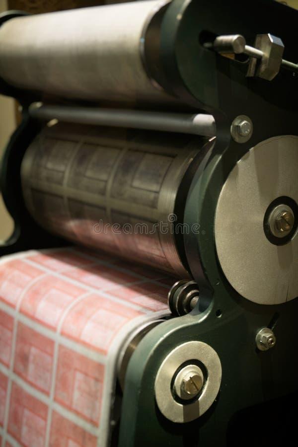 Impresora del dinero viejo imágenes de archivo libres de regalías