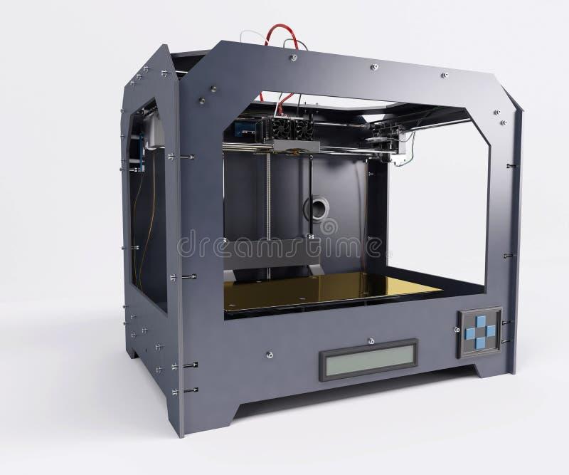 Impresora dimensional 3 ilustración del vector
