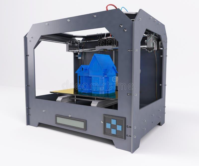 Impresora dimensional 3 stock de ilustración