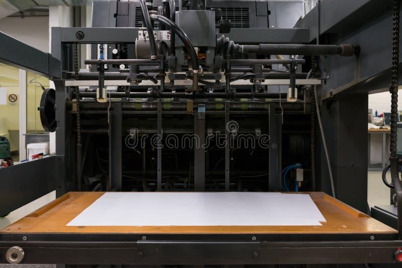 Impresora industrial profesional Equipment Mechanism Machine Mech imagen de archivo libre de regalías