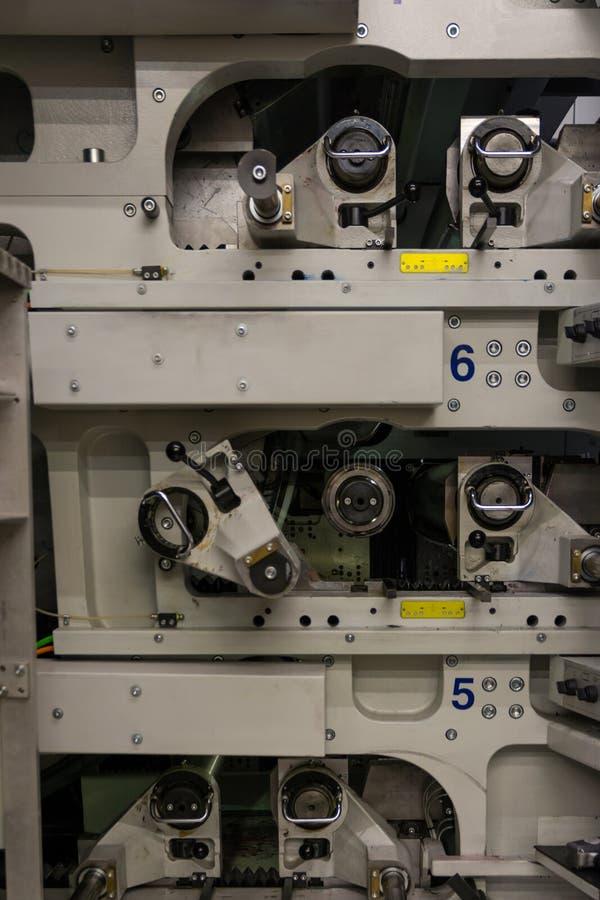 Impresora industrial profesional Equipment Mechanism Machine Mech imagenes de archivo