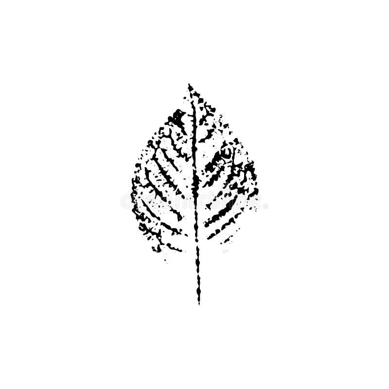 Impressão da folha do vetor ilustração stock