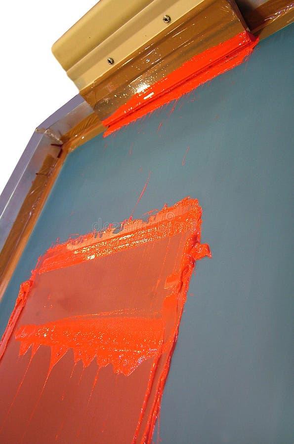 Impressão da tela de seda fotos de stock