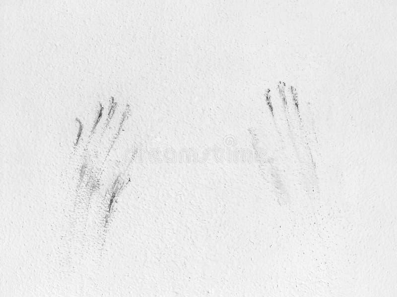 Impressão das mãos humanas imagens de stock