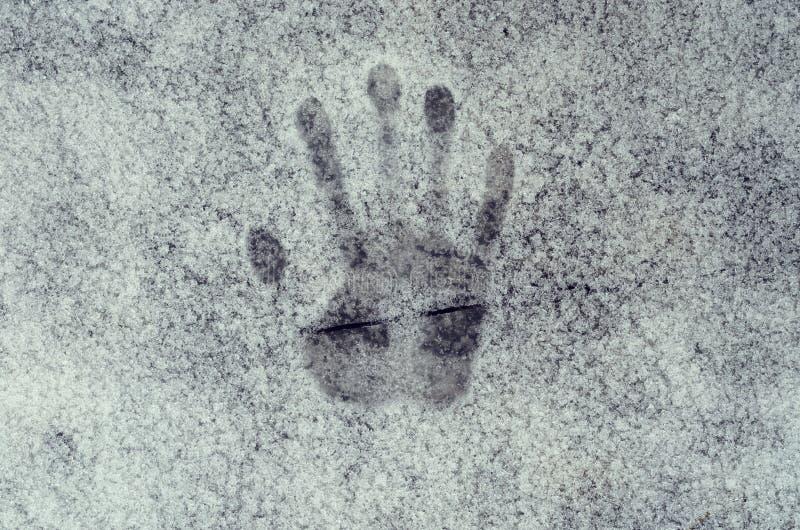 Impressão das mãos humanas imagem de stock royalty free