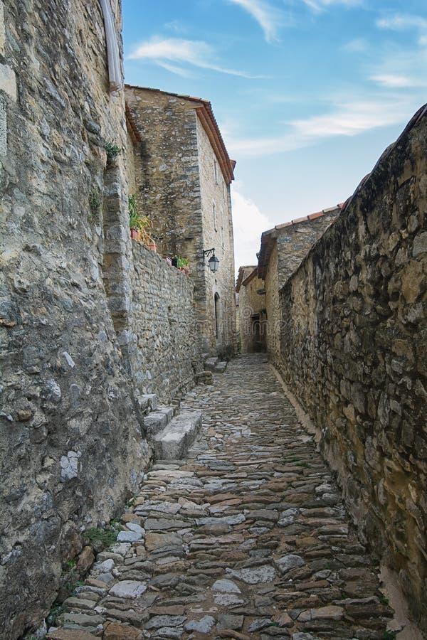 Impressão de Saint Montan da vila na região de Ardeche de foto de stock royalty free
