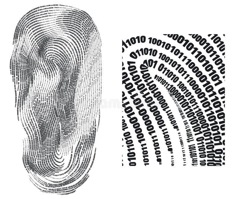 Impressão digital ilustração royalty free