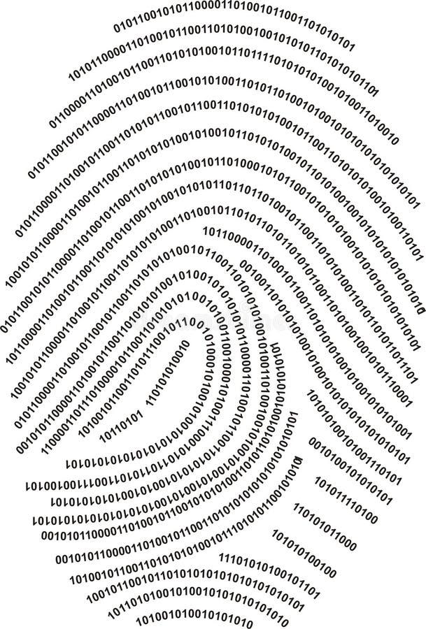 Impressão digital de Digitas - feita com números!!! ilustração royalty free