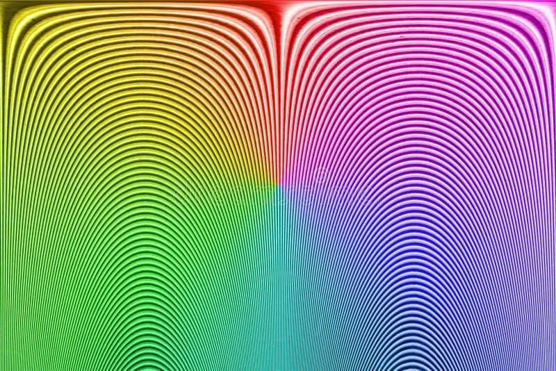 Impressão digital desconhecida do arco-íris abstrato, linha curvada montão, fotografia de stock royalty free
