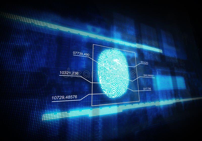 Impressão digital digital azul