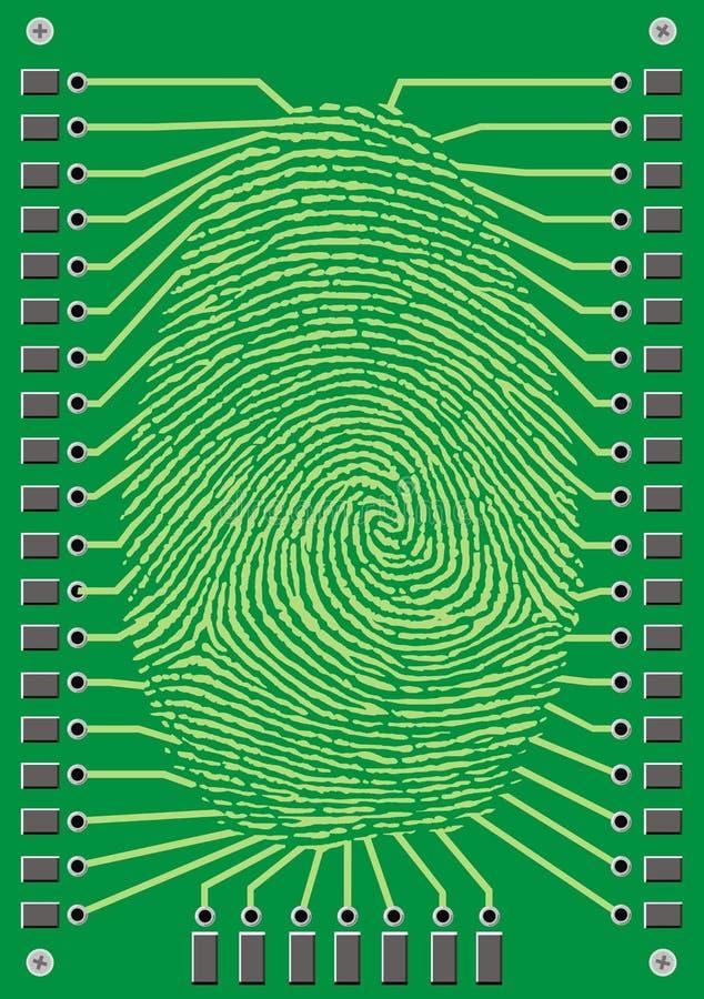 Impressão digital do Cyber ilustração stock