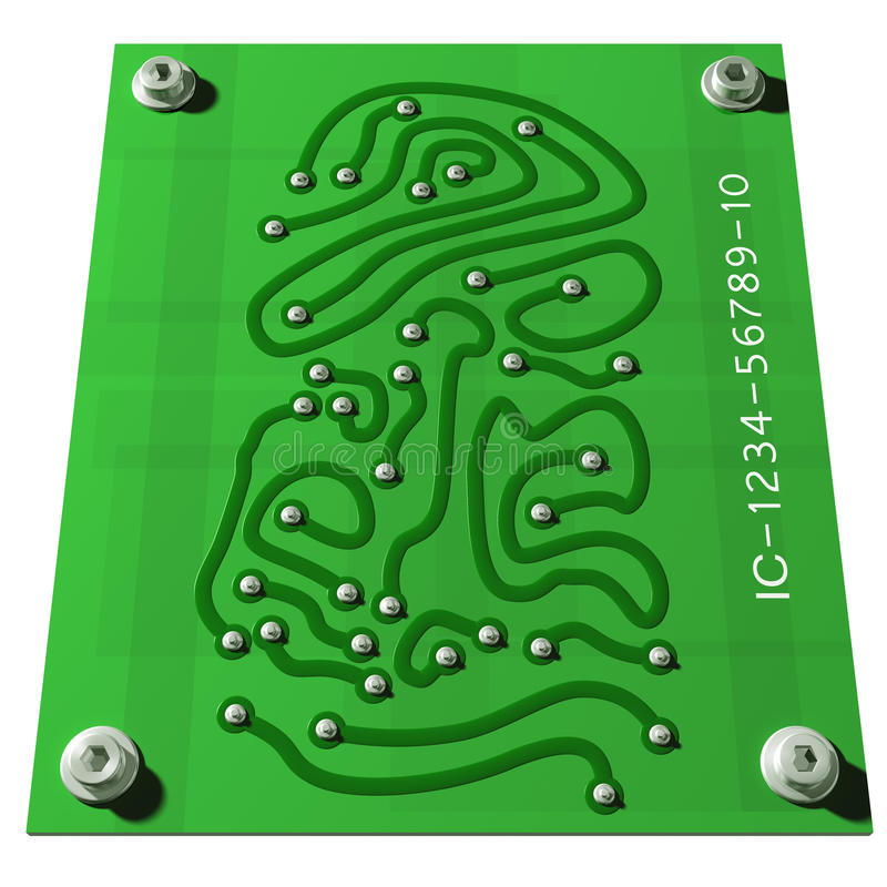 Impressão digital eletrônica ilustração stock