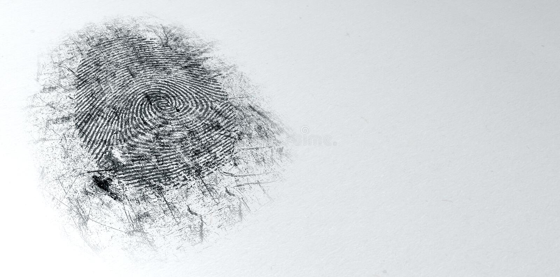 Impressão digital espanada da cena do crime fotografia de stock royalty free