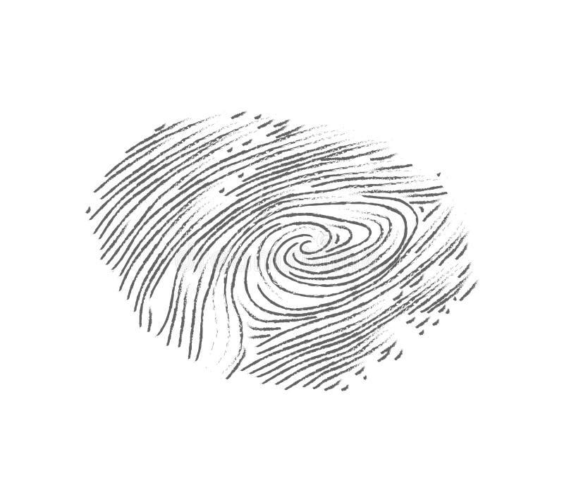Impressão digital isométrica do vetor ilustração royalty free