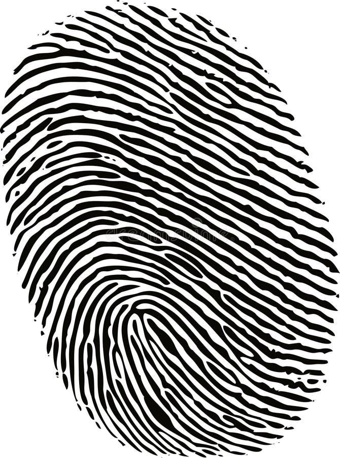 Impressão digital preta da tinta ilustração stock