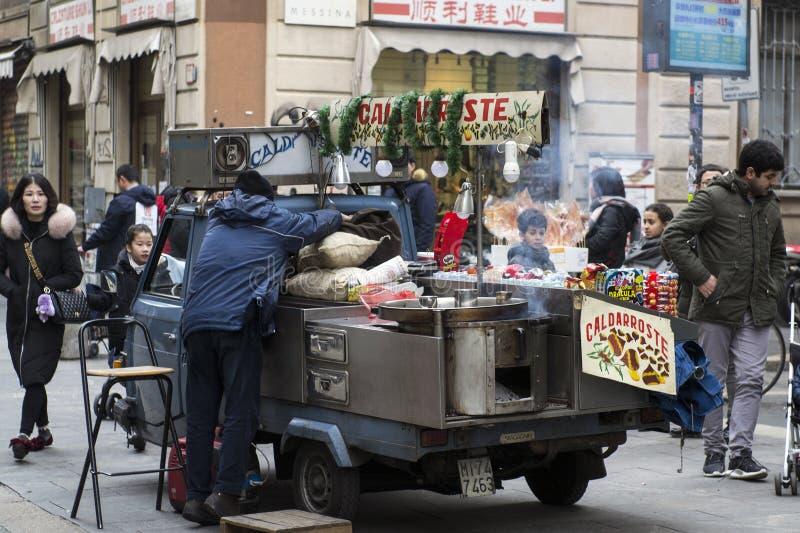 Impressão do bairro chinês fotografia de stock
