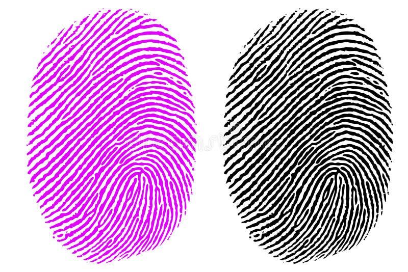 Impressão do polegar ilustração royalty free