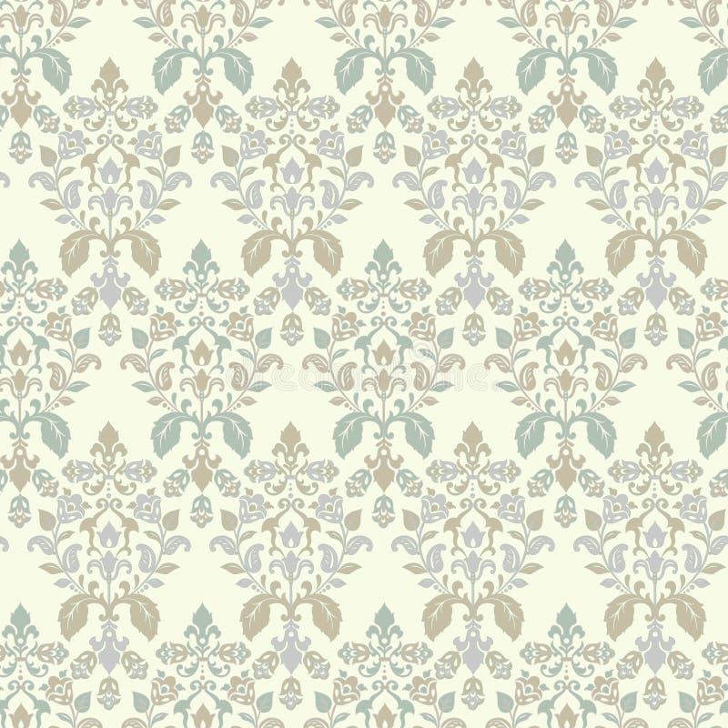 Impressão texturizada por vetor Padrão de vinheta Damask Seamless Pode ser usado para papel de parede, tecido, convite ilustração stock
