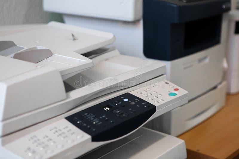 Impressão universal da copiadora do varredor de impressora do equipamento de escritório fotos de stock royalty free