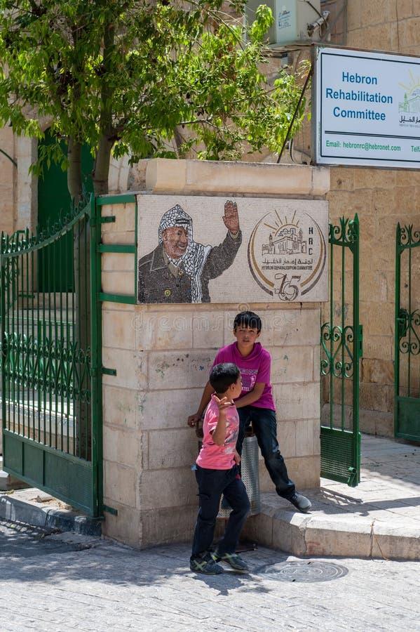 Impressões da cidade de Hebron imagens de stock