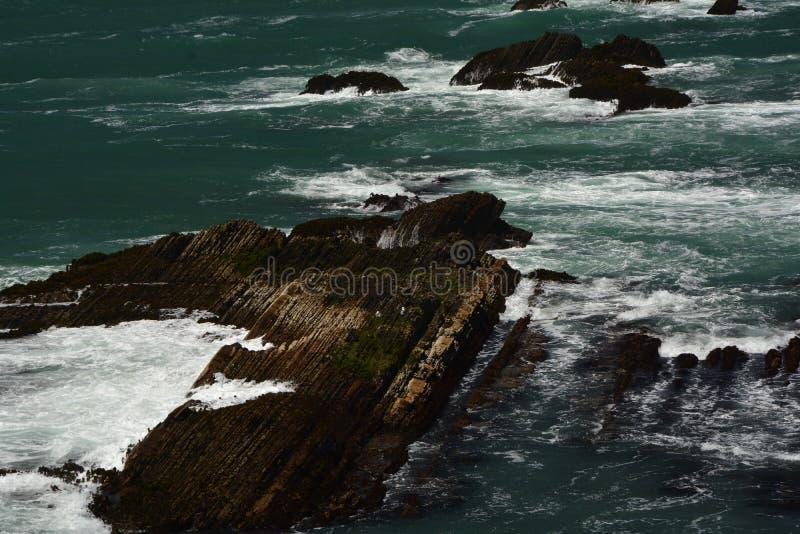 Impressões das Costas do Pacífico da luz da arena do ponto, Califórnia EUA imagem de stock royalty free
