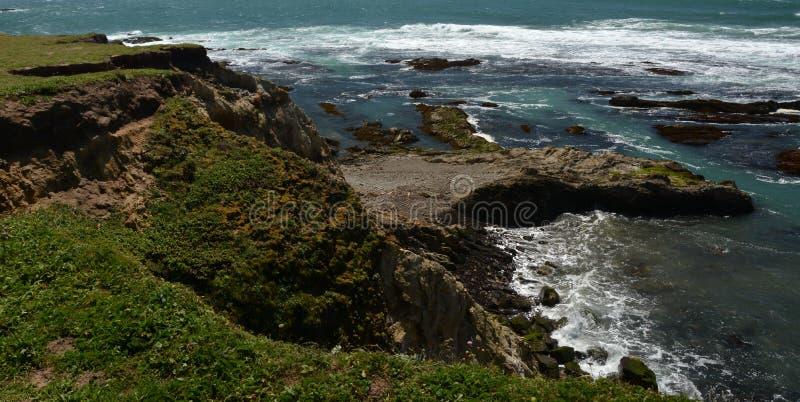 Impressões das Costas do Pacífico da luz da arena do ponto, Califórnia EUA imagens de stock
