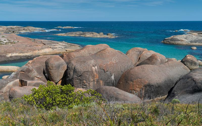 William Bay NP, Western Australia. Impressing coastal landscape of the William Bay National Park, Western Australia royalty free stock photo