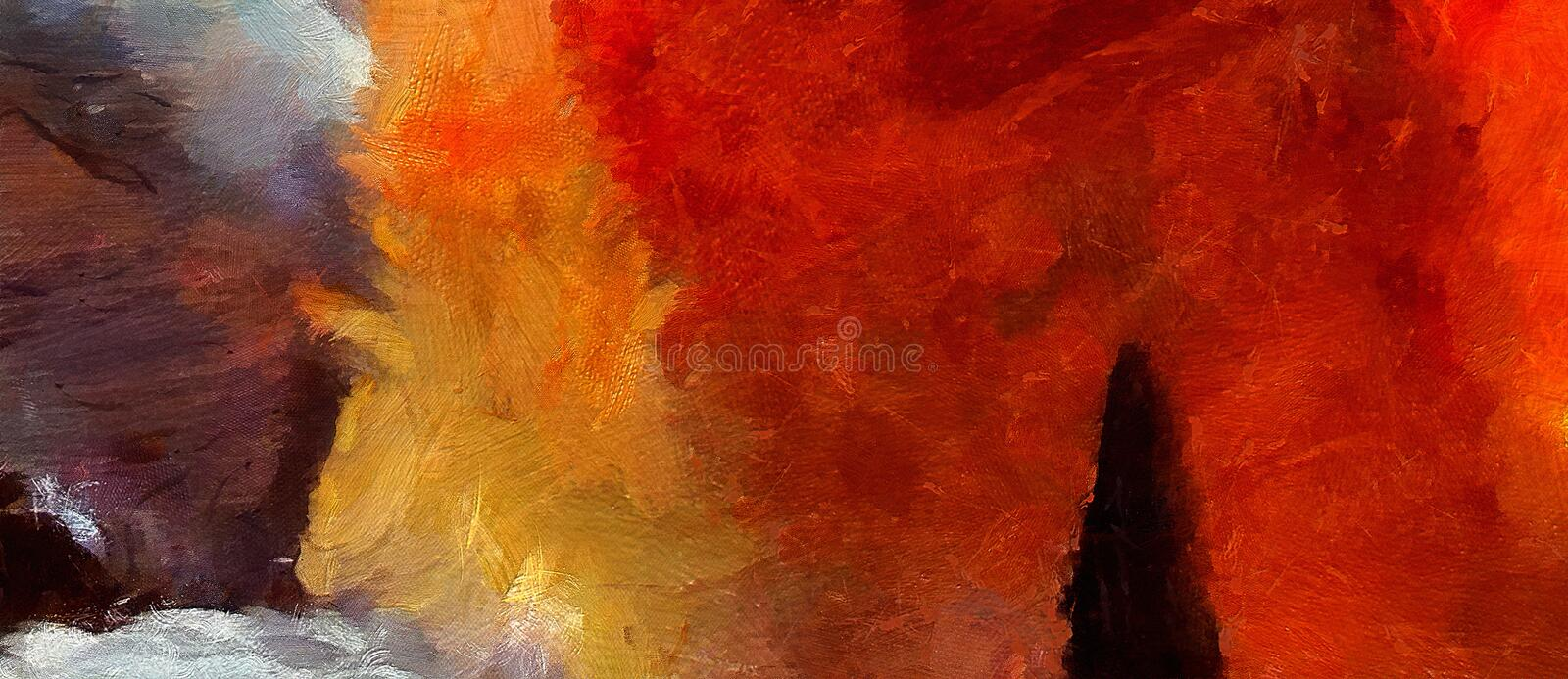 Impression abstract texture art. Artistic bright bacground. Stock. Oil painting artwork. Modern style graphic wallpaper. Impression color mix abstract texture royalty free illustration