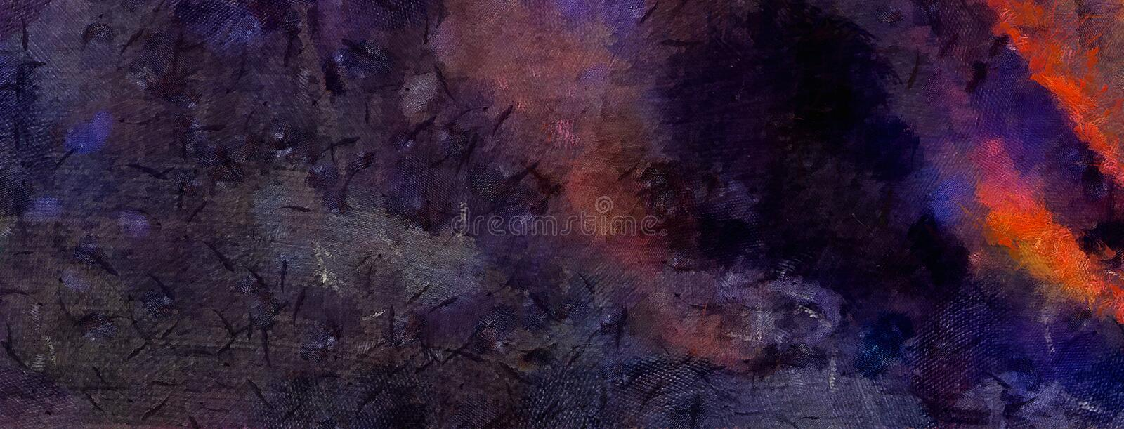 Impression abstract texture art. Artistic bright bacground. Stock. Oil painting artwork. Modern style graphic wallpaper. royalty free illustration