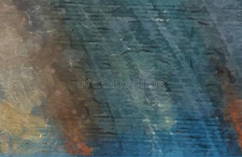 Impression color mix abstract texture art. Artistic bright background. Oil painting artwork. Modern style graphic wallpaper. stock illustration