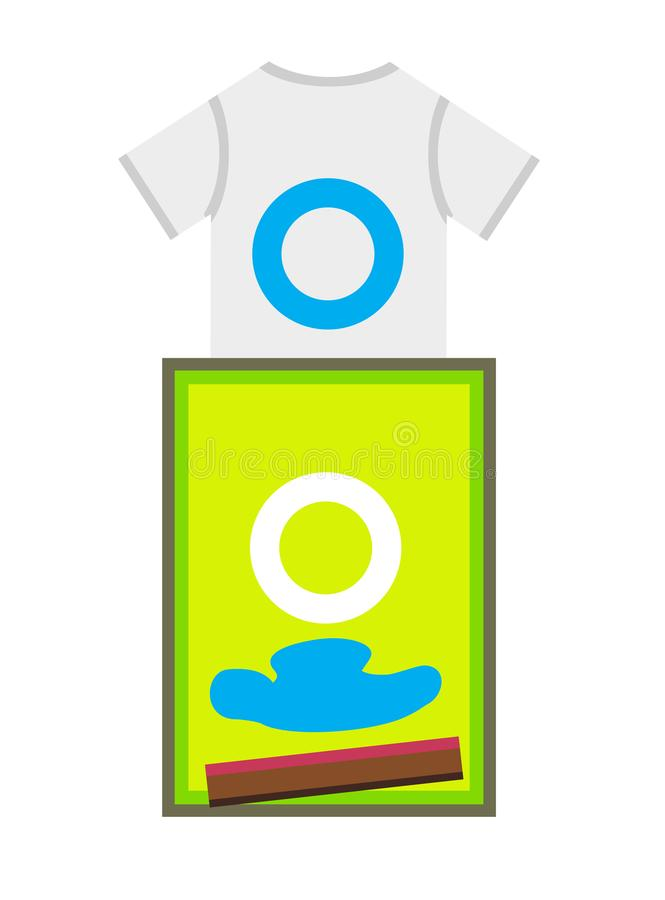 Impression d'écran - T-shirt et cadre d'impression avec la spatule illustration libre de droits