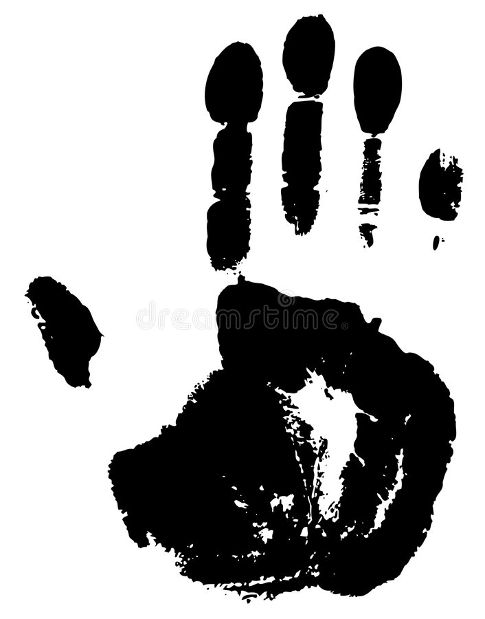 Impression d'une paume. illustration libre de droits