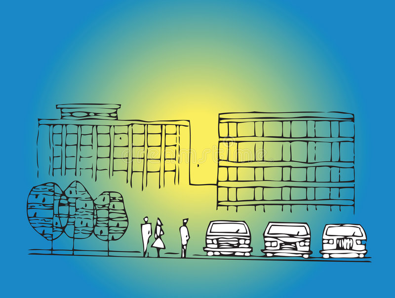 Impression de beijing3 illustration libre de droits